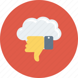 cloud, dislike, down, thumb, thumbs, vote icon