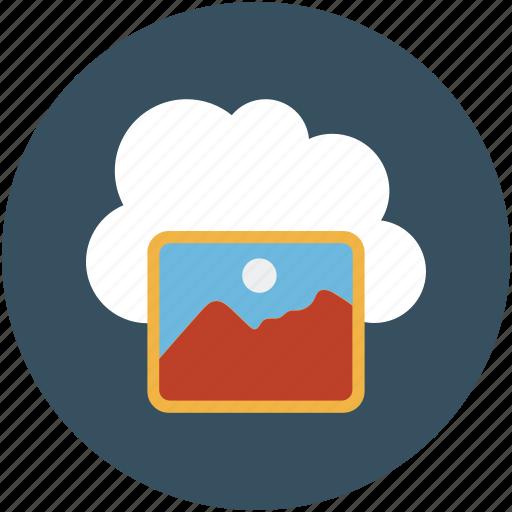 online computing, online content, online image, picture storage online icon