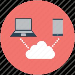 internet, online computing, online device, online phone, online storage icon