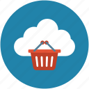 online, online basket, online computing, online ecommerce icon