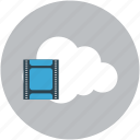 cloud, icloud, multimedia, online video icon