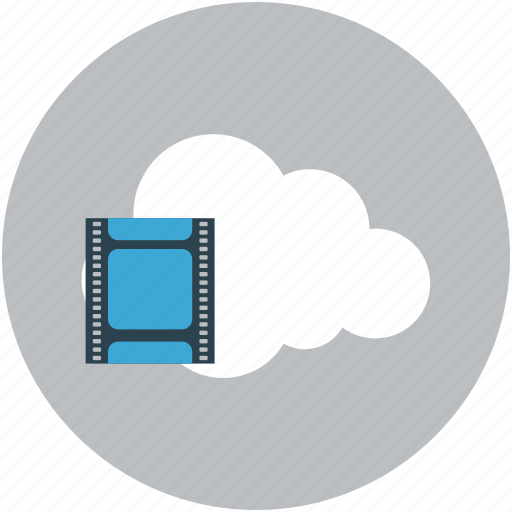 cloud, icloud, multimedia, online video icon