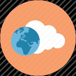 computing, globe, internet, network, online, online climate, online globe icon