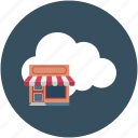 cloud, ecommerce, hut, online shop, online shopping, shop icon