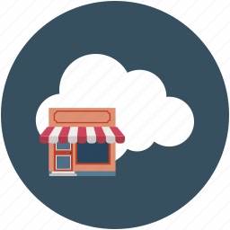 cloud, ecommerce, hut, online shop, online shopping, shop icon