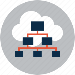 cloud, company, connection, connections, hierarchy, internet, network, relations icon