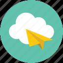 online mail, online message, online paper, online paperplane, online plane, online sending icon
