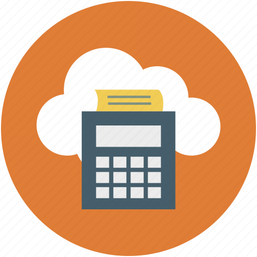 online calculation, online calculator, online calculator printer, online receipt, online receipt printer icon