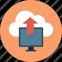 online data transfer, storage, upload, send, online transfer, put, data, cloud icon