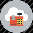 cash register, online receipt printer, online calculation, online receipt, online printer icon