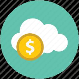 financial, money bag, online banking, online dollar, online finance, online money icon