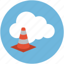 online building, online cone, online construction, online under maintenance icon