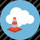 online cone, online construction, online building, online under maintenance icon