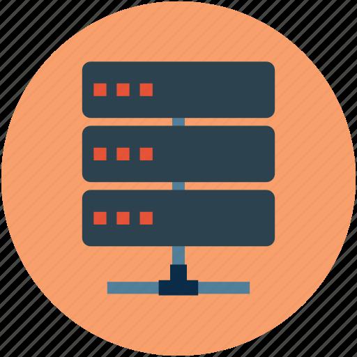 data, data center, database, network, online, online computing, server, storage icon