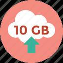 online, ten gb space online, online dimension, space icon