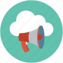 ads, announce, announcement, communication, loudspeaker, megaphone, speaker icon
