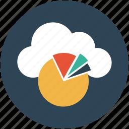online business analytics, online computing, online graph, online pie chart icon