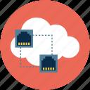 online connectivity, online sharing, online, network, server icon