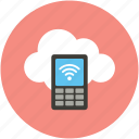 cell phone, contact, mobile, online, online computing, share icon