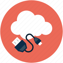 cable, online computing data, power, power cable icon