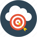 arrow, center, dartboard, goal, hit, optimization aim, success, target icon