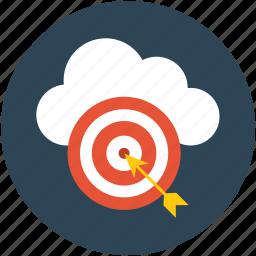 arrow, center, dartboard, goal, hit, optimization aim, success, target icon