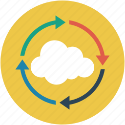 online, online processing, online refresh, online sync, process icon
