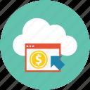 online exchange, money, price, online shopping, online payment, online cash, online dollar icon