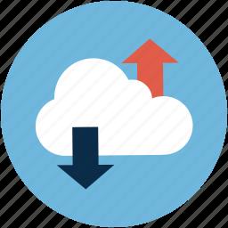 cloud, online computing cloud, sync, synchronization icon