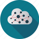 cloud, computer, computing, connection, information, internet, network icon