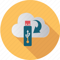 cloud, computer, computing, data, disk, flash, internet icon