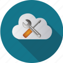 cloud, computer, computing, data, digital, internet, maintenance icon
