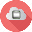 cloud, computer, computing, data, digital, internet, processor icon