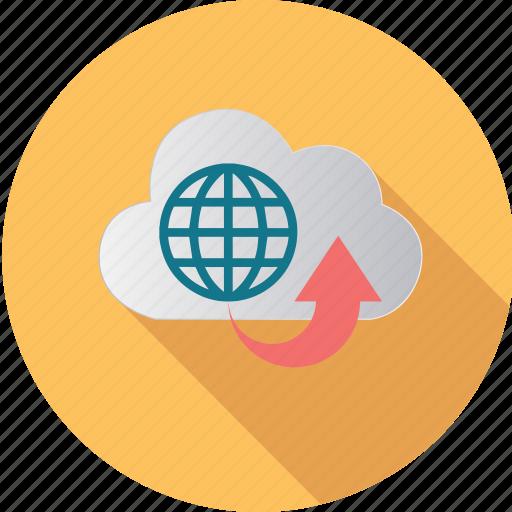 cloud, computer, computing, data, degital, globe, internet icon