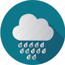 cloud, computer, computing, data, degital, numbers, rain icon