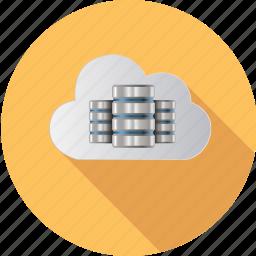base, cloud, computing, data, information, internet, network icon