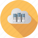 cloud, computing, database, information, internet, network, server icon