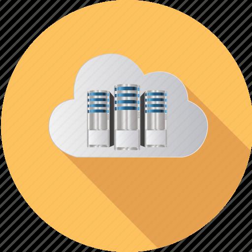 cloud, computing, database, information, internet, network, server icon
