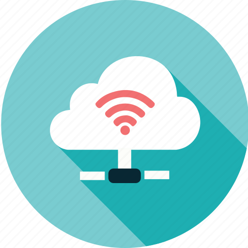 cloud, computing, connection, information, internet, network, wifi icon