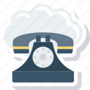 cloud, mobile, phone, telephone icon