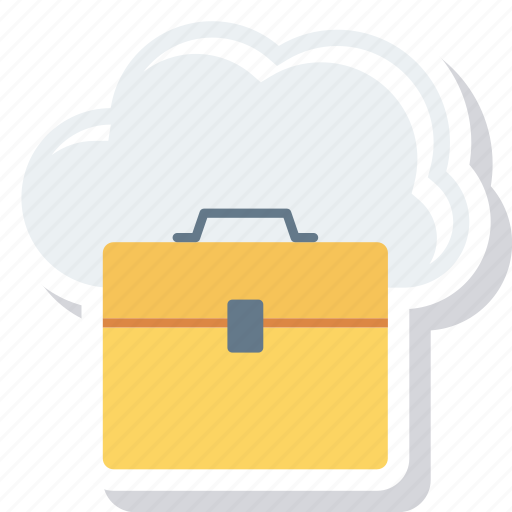 Bag, briefcase, business, case, cloud, job, portfolio icon - Download on Iconfinder