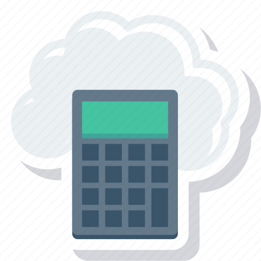 calc, calculate, calculation, calculator, cloud, education, math icon