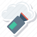 cloud, film, movie, recorder, video icon