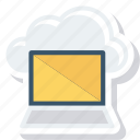 cloud, computer, computing, device, laptop, macbook icon