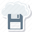 cloud, computing, data, file, floppy icon