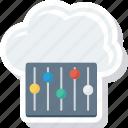 cloud, mntenance, repr, service, setting icon