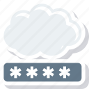 cloud, network, password icon