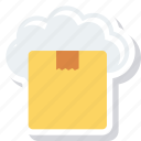 cloud, computing, module, package, share, software icon