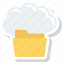 cloud, files, folder icon