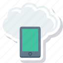 cloud, iphone, mobile, phone, smartphone icon